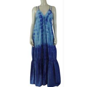 Seaton Maxi Dress XS, S New Blue TieDye CottonSilk